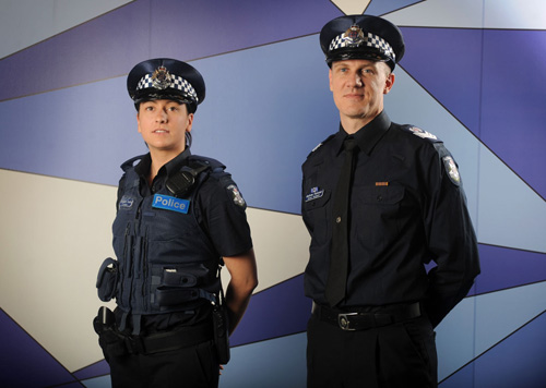 The new 'New York' style Victoria Police uniforms