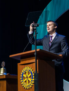 Hugh Evans at the 2012 Rotary International Convention